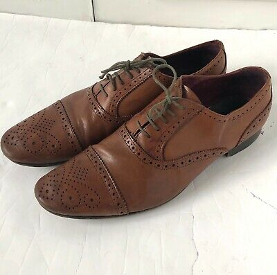 £12 • Buy Men's Poste Leather Dress Shoes Brogue Style Brown Size UK 12