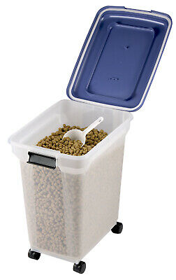 £27.95 • Buy 15 Kg Load Airtight Plastic Storage Catering Bin Container Pet Food On Wheels
