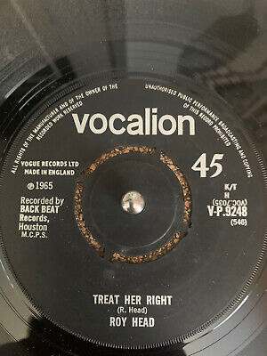 £12 • Buy Roy Head - Treat Her Right - Vocalion