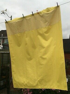 £9.99 • Buy Pair Of Yellow/Lemon & White Gingham Curtains Black Out 46 X 55