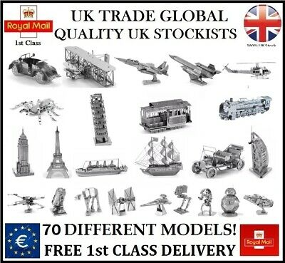 £7.49 • Buy 70 Different Metal Model Craft Kit 3d Puzzle Gadget Christmas Gift Idea Uk Stock