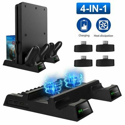 AU50.21 • Buy 4 In 1 Charging Dock For PS4 Pro/Slim Vertical Stand+Cooling Fan Controller 2021