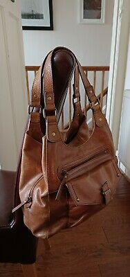 £8.50 • Buy Marks And Spencer Rich Tan Leather Tote Bag