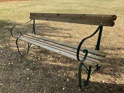 £175 • Buy Beautifully Restored Cast Iron Garden/Bench Seat/ Chair/ Wrought Iron 6ft Long