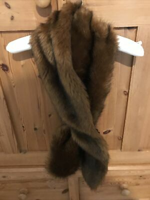 £15 • Buy Laura Ashley Large Faux Fur Brown Stole/Wrap/Scarf One Size