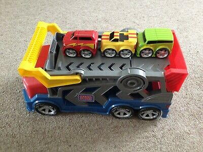 £12 • Buy Mega Bloks Tiny N Tuff First Cars Transporter Truck And Blue Car And Launcher