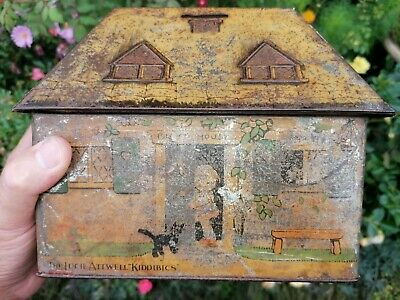 £55 • Buy Lucie Attwell Kiddibics Biscuit Tin / Money Box 1933 William Crawford & Sons