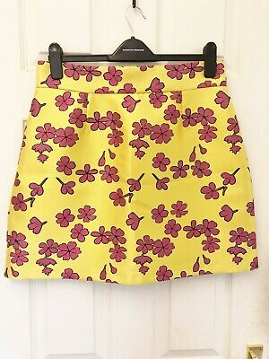 £9.99 • Buy River Island Yellow Floral Short Skirt - Size 14
