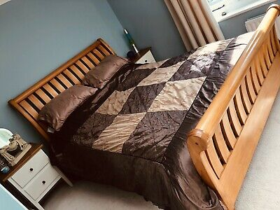£6 • Buy Jeff Banks Silky Brown And Gold Superking Bedding