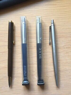 £11.99 • Buy 4 Retro Vintage Parker Pens 2 Unused Still In Cases 2 Others As Shown Photo,s