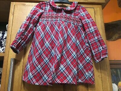 £1 • Buy Girls Red Checked Dress 12-18 Months