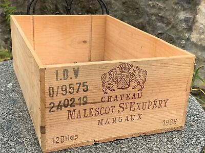 £8.50 • Buy Wooden Wine Box Crate 12 Bottle French Chateau 1986 Storage Planter Hamper