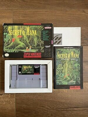 £127.10 • Buy Secret Of Mana (SNES, 1993) Authentic W/ Box And Instructions Nice Condition