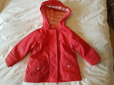 £3 • Buy M&S Girls Pink, Waterproof, Cotton Lined Jacket Age 9-12 Months. Used. Washable.