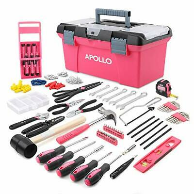 £69.99 • Buy Ladies Pink Tool Set 170 Pcs Home DIY Kit Womans Household Toolbox Gift For Her
