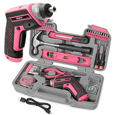 £42.52 • Buy Ladies Pink Tool Set 35 Piece Home DIY Kit Womans Household Toolbox Gift For Her