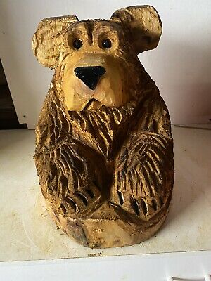 £55 • Buy Chainsaw Carved  Bear In Stump Carved Bear Carvings