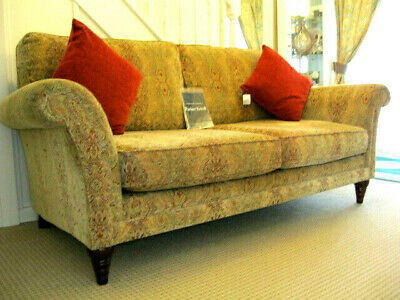 £999 • Buy  Parker Knoll Burghley Large 2 Seater Sofa In Baslow Medallion Gold Fabric.