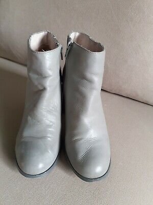 £4.70 • Buy Aldo Grey Leather 3 Inches Block Heel Ankle Boots Size 6 (39)