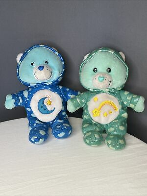 £14.47 • Buy 2015? Just Play Care Bears PJ Party Special Edition Bears Set Of 2 Blue Green
