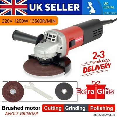 £38 • Buy 125mm Mini Electric Angle Grinder 1200W Variable Speed With 2 Grinding Discs UK