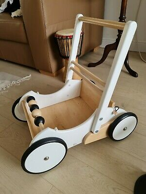£39.90 • Buy The White Company - Wooden Baby Toy Walker/ Push Along Wooden Trolley