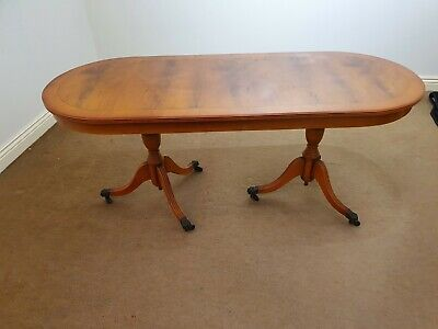 £10 • Buy Yew Wood Coffee Table In Need Of Some Restoration, 121cm X 49cm By 52cm High
