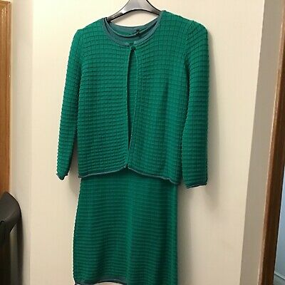 £9 • Buy Stile Benetton Dress And Jacket Green Size Small