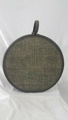 View Details Vintage 1950s Round Train Suitcase – American Tourister - Grey Tweed • 82$