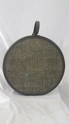 View Details Vintage 1950s Round Train Suitcase – American Tourister - Grey Tweed • 82.00$