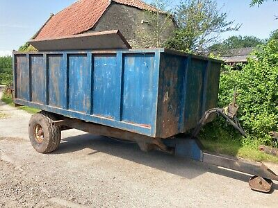 £2250 • Buy Webcox 6 Ton Single Axle Trailer Grain Silage Muck Fits Your Tractor