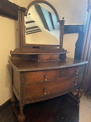 £28 • Buy  Dressing Table  Antique Edwardian Oak Chest Of Drawers