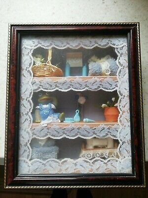 £2.99 • Buy Bathroom Decoupage Picture In Frame