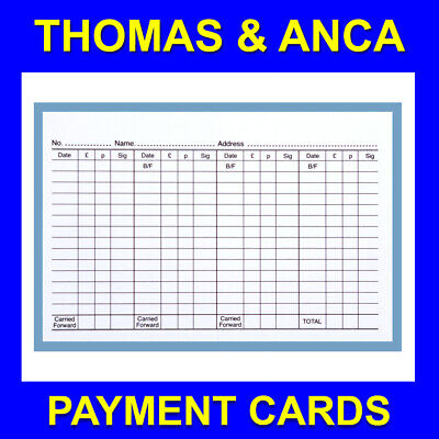 £7.95 • Buy Club Payment Record Cards Membership Tontine Savings Record Card Pack Of 100