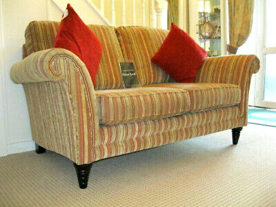 £899 • Buy Parker Knoll Burghley 2 Seater Sofa In Baslow Stripe Gold Fabric.