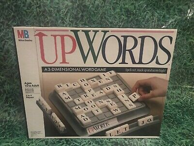 £14.45 • Buy UpWords Board Game, MB Games, Vintage 1988, 3D Family Word Game, Complete, VGC