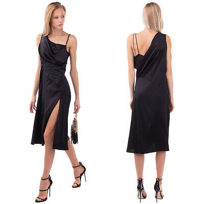 £33 • Buy RRP €2545 VERSACE Silk Satin A-Line Dress Size 38 / XS Draped Made In Italy