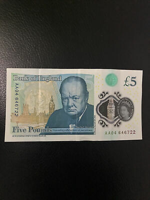 £6.50 • Buy Bank Of England Polymer £5 Note - AA04 Serial Number