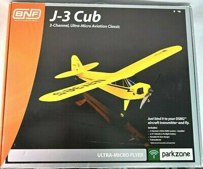 £91.44 • Buy UNTESTED Parkzone J-3 Cub Ultra Micro RC Airplane BNF (NO TRANSMITTER) W/ Box