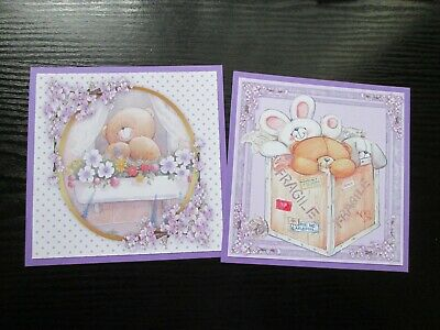 £1.25 • Buy NEW === 2 X FOREVER FRIENDS  --- Hand Made Card Toppers Plus Sentiments