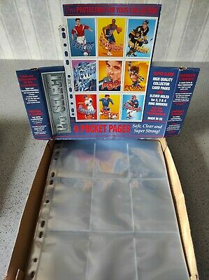£9.50 • Buy Perfect Trading Card A4 Sleeves- PRO- SELECT, 9 Pocket 11 Hole Pages- X20