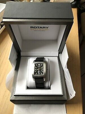 £140 • Buy ROTARY Editions 200B Automatic Titanium Black Leather Strap Watch