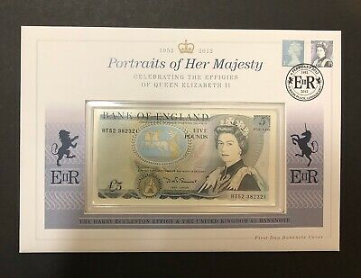 £69 • Buy England £5 Note First Day Cover Serial Number HT52 382321 Uncirculated