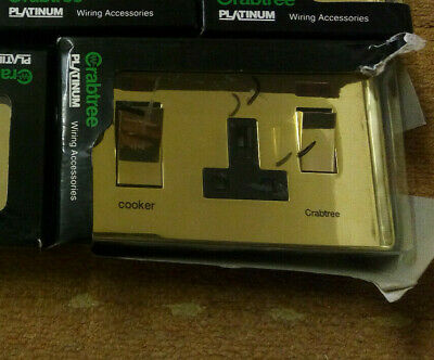 £15 • Buy Crabtree Platimum Cooker Switch And Single Socket Polished Brass