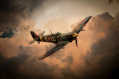 £24.99 • Buy Supermarine Spitfire Canvas Print. Spitfire Solace Poster/Canvas Free Delivery