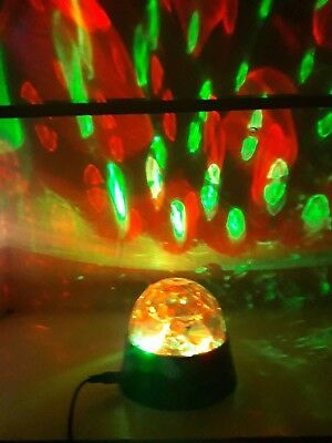£7.95 • Buy Crystal Star Ball Rotating Flashing Colour Led Party Disco Light Magnetic Backed