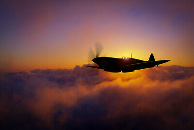 £29.99 • Buy Spitfire Canvas Print. Spitfire Evening Sweep Poster/Canvas Free Delivery