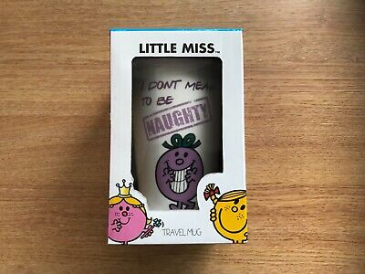 £14.99 • Buy Little Miss Naughty - Ceramic Travel Mug With Rubber Lid - Tumbler/cup - Coffee