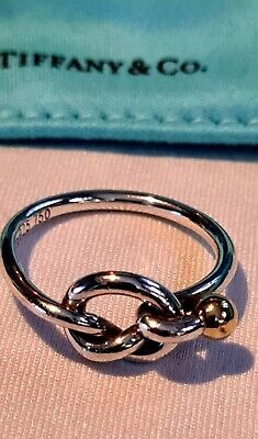 £180 • Buy Tiffany & Co Love Knot Ring 925 And 750 Size UK. P