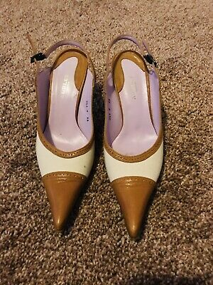 £30 • Buy Audley London Womens Shoes High Heels Designer 38 Cream Tan Pointed Closed Toe 5